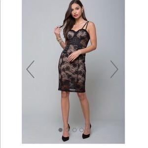 Bebe black lace dress